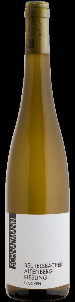 Eine Flasche Beutelsbacher Altenberg Riesling Trocken, 2017, vom Weingut Schnaitmann